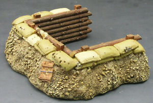 King & Country SP026 Battlefield Backdrops Mortar Pit Defensive Position New
