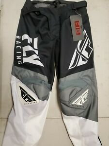 Fly Racing F-16 Black White Grey Size 38 MX Motocross Offroad Pants