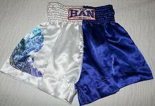 Han Muay Thai blue white Han Muay Thai black red boxing shorts size Xl Excellent