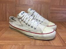 Vintage🔥 Converse Chuck Taylor Made In USA White Canvas Chucks Low Sz 9  Men s 0c8f18b01
