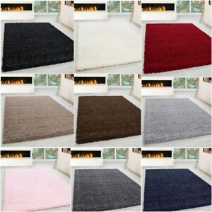 LARGE RUG LIVING ROOM THICK SHAGGY SOFT HALLWAY RUNNER NON SLIP CARPET LOW COST