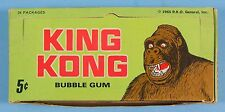 KING KONG 1965 Donruss Original Vintage GUM CARD DISPLAY BOX