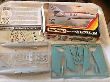 Vintage Matchbox Dassault Mystery  IV.A 1:72 Scale Model kit 2 Colour Model