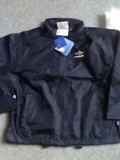 BNWT Umbro Navy Blue Rain Jacket size 30 chest.