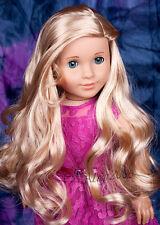 Custom American Girl Doll blue eyes Marie Grace Tenney blond wig OOAK