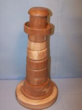 OOAK Handmade Handcrafted Wooden Toy RING STACKER 13 1/2