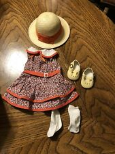 American Girl Kit Scooter Outfit EUC RETIRED Complete Hat Dress Shoes & Socks
