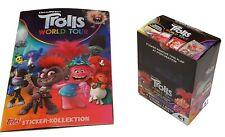 Topps Trolls World Tour Sticker Leeralbum + 1 Display Sticker & Stickerkarten