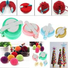 4 Size Pompom Maker Fluff Ball Weaver Knitting Needle Tool Kit Bobble Craft Hot