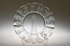 1937 - 1954 #2496 BAROQUE Fostoria CRYSTAL #329 Lido Etch Luncheon Plate
