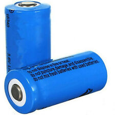 2 X 16340 2000mAh 3.7V CR123A 123A Li-ion Rechargeable Battery For Flashlight T5