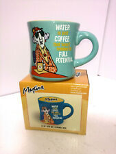 Hallmark Maxine Coffee Mug Great Art and Funny Saying Turquoise/Yellow Nib