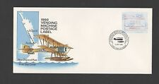 New Zealand 1990 FDC Vending Machine Postage Label issue stamp