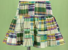 272 Kelly's Kids girl patchwork plaid skirt EUC Size 3-4