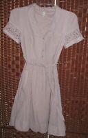 Maeve Anthropologie dress 12 shirt dress fit flare short sleeve cotton