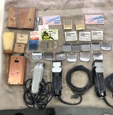 Vintage Barber Clipper Lot Oster, Wahl, Polaris Clipper-Vibrator & More W/Case