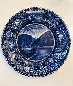 R&M Rowland Marsellus Blue Flow Delaware Water Gap Commemorative Plate