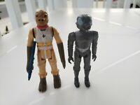 Vintage Star Wars Bounty Hunter lot of  Bossk and Zukuss ESB 1981 Kenner