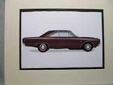 1969 Dodge Dart GTS 383   artist art Auto Museum Full color  Illustrated