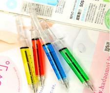 Special 4 Pcs Injection Syringe Shape Ball Point Pen Kids Gift OfficeStationery