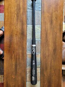 Travis Hafner signed baseball Bat, Cleveland Indians,Travis Hafner autograph bat