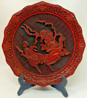 The Five Perceptions of Weo Cho Touch Ornate CINNABAR PLATE of Brass 19-2877