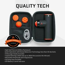 JAWKU Muscle Blaster Chrome Mini Deep Tissue Massage Massager Gun NEW, SEALED!