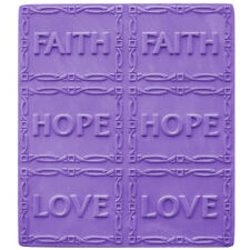 Faith Hope Love Soap Tray Mold. Melt & Pour, Cold Process w/Instructions