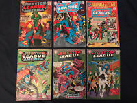 JUSTICE LEAGUE OF AMERICA Silver Age Lot of 6 Comics: #36,52,54,69,74,116; VG-