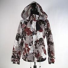 Zara Woman's Jacket Size L Water Repellant Floral Hood Raincoat NWT