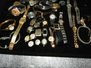 Lot of Watch parts and some watches, some old