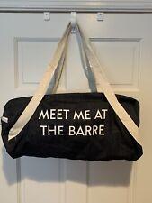 Meet Me At The Barre Gym Duffel Bag Jean Material