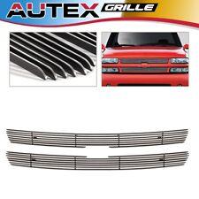 AUTEX Chrome Billet Grille Combo Insert Fit 99-02 Silverado/00-06 Suburban/Tahoe