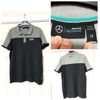 Mercedes Benz Petronqs T Shirt Grey Size Medium M Mens Short Sleeve (B93)