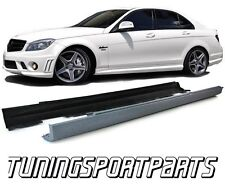 SIDE SKIRTS FOR MERCEDES W204 CLASS-C C65 07-14 AMG LOOK SPOILER BODY KIT NEW