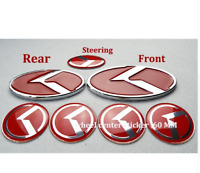 TYP A-7x ROT logo fitRio Ceed Sportage k3 k4 k5 Auto Radmitte Cap Emblem 3D-ROT