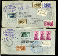 Italy Stamps 2 Flight Covers William Shepard Steamships Rare