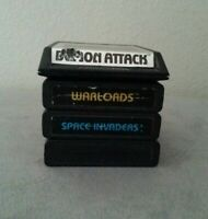 Lot of 4 Four Atari 2600 Cartridges Carts Warlords Space Invaders Demon Attack