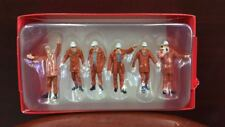 1:50 Scale Male White Hat Construction Worker Model 6PCS F Engineering Car Toy