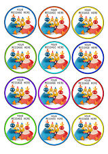 TWIRLYWOOS PERSONALISED CUPCAKE TOPPERS, A4 EDIBLE ICING SHEET 12X6CM TOPPERS
