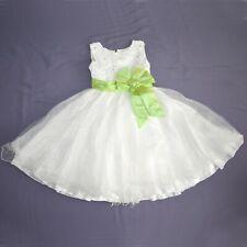 Verde Lazo En Brillo Niños Vestido 116 Niñas Flores Comunión Vestido de Fiesta