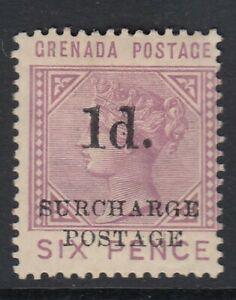 Grenada 1892 1d on 6d mauve Postage Due SGD4 Mint no gum