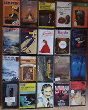 20 x Classical Cassette Tape Albums Job Lot - Beethoven,Tchaikovsky,Haydn.Mozart