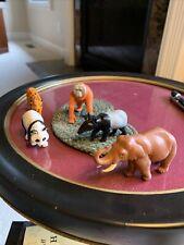 Lot of 5 K & M Hard Plastic Exotic Wild Animal Figures