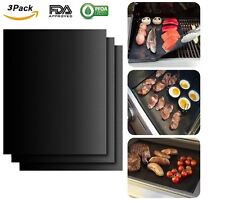 BBQ Grill Mat FDA Approved PFOA FREE Heavy-Duty Non-Stick Reusable (Set of 3)