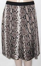 NEW Jones New York Collection Plus 16W Pleated Grosgrain Trim Skirt Snakeskin