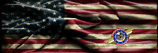 "U.S FLAG  ""Truck Rear Window Graphic"" Free add Text"