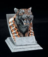 "Tiger, 4"" tall Resin School Mascot Trophy, Free Engraving"