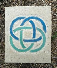 Celtic knot plaque plastic mold for plaster concrete