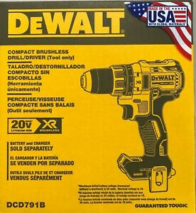 "USA made DeWALT DCD791B 20V Li-Ion XR 1/2"" Cordless Drill Driver Bare brushless"
